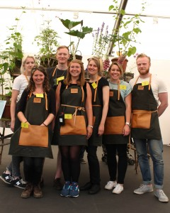 The 2014 GROW London team in their bespoke Traditional English Apron Company aprons
