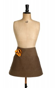 Bill - leather and superdry waxed cotton half apron