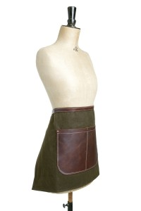 Bill - waxed canvas and leather half apron